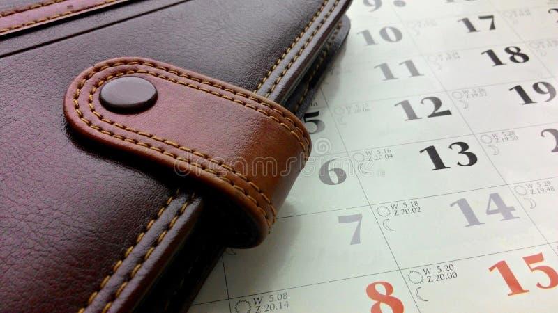 Блокнот и календарь стоковая фотография rf