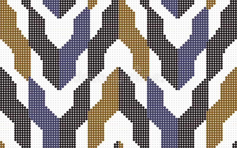 Блок геометрии стрелки картины полутонового изображения красочный безшовный ретро бесплатная иллюстрация