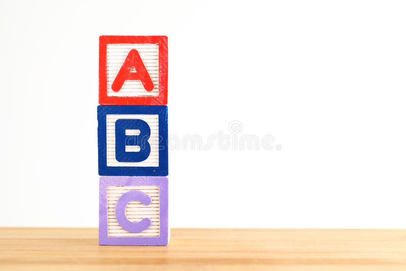 Download Блок игрушки ABC деревянный Стоковое Фото - изображение насчитывающей засорением, учить: 33737634