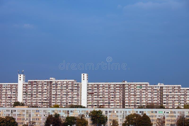 Блок квартир и жилых домов в Wroclaw стоковые изображения rf