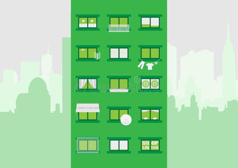 Блок квартир иллюстрация вектора