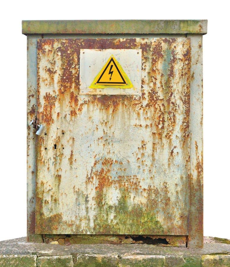 Блок панели коммутатора проводки распределения силы внешний, старый стоковая фотография