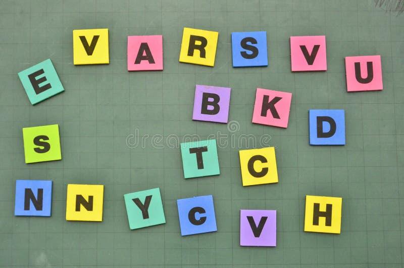 Блок письма и номера стоковое изображение