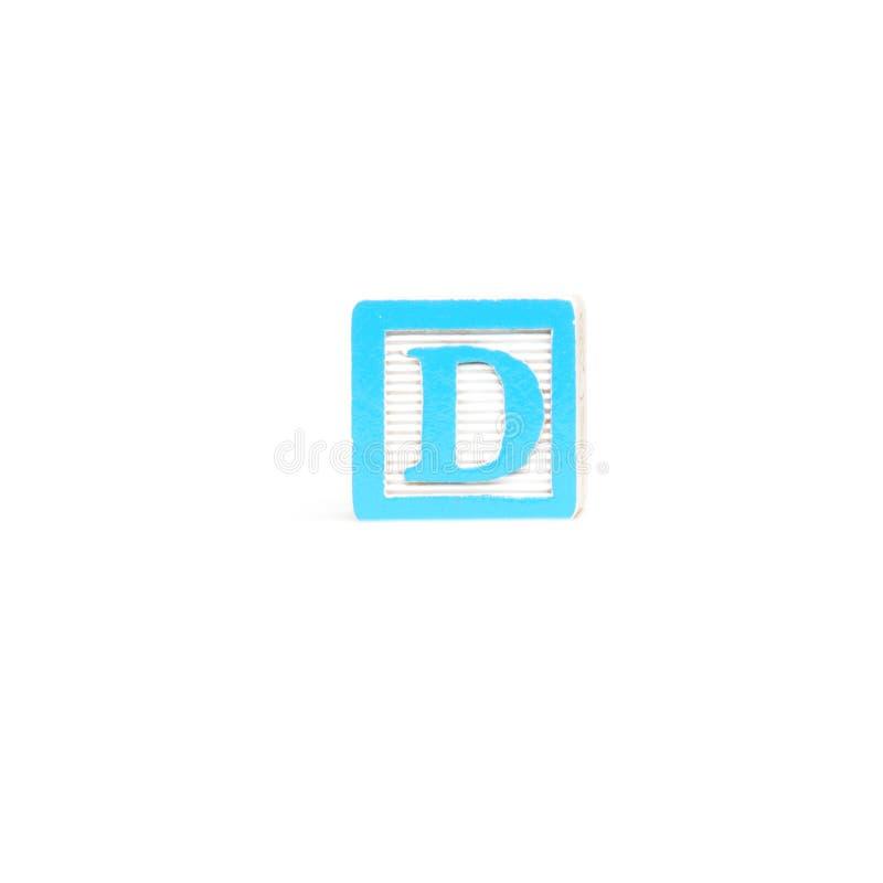Блок письма d стоковое изображение rf