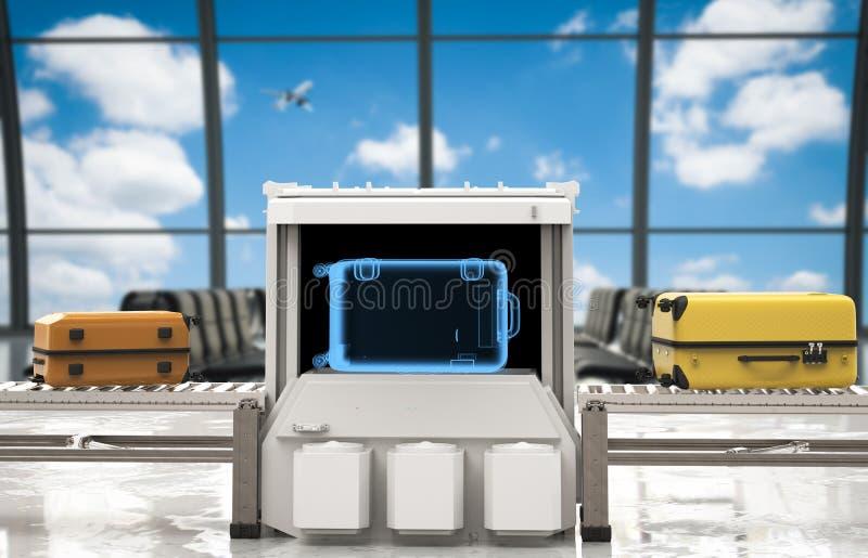 Блок развертки багажа в авиапорте стоковые фото