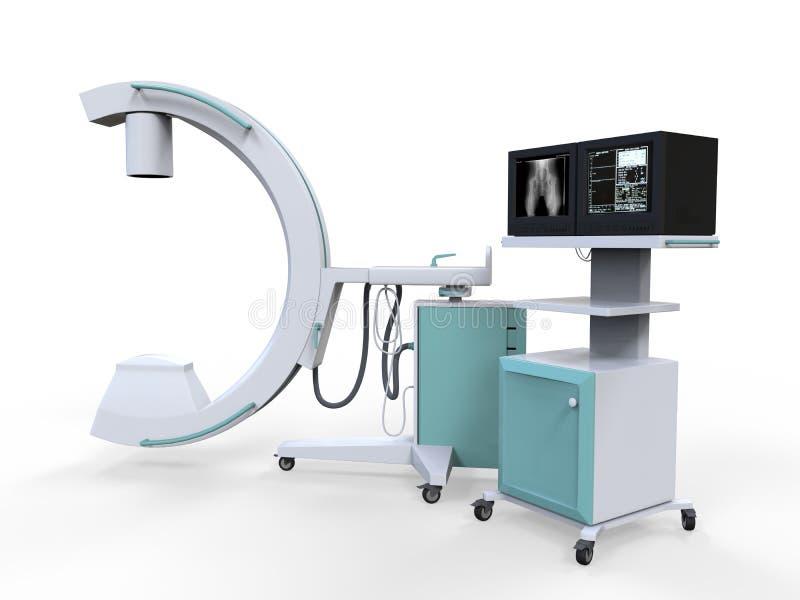 Блок развертки передвижного рентгеновского аппарата руки c иллюстрация штока
