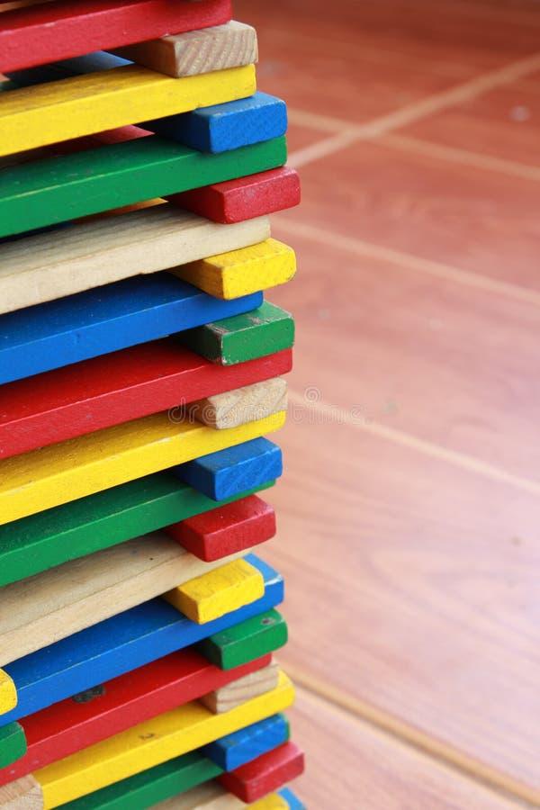 Блок цвета деревянный стоковое изображение rf