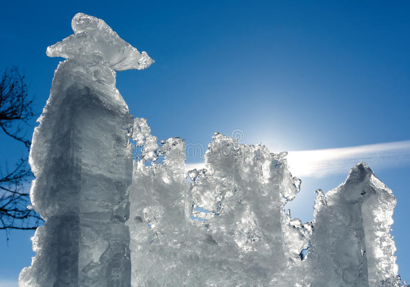 Блок льда солнечности ледниковый стоковое изображение