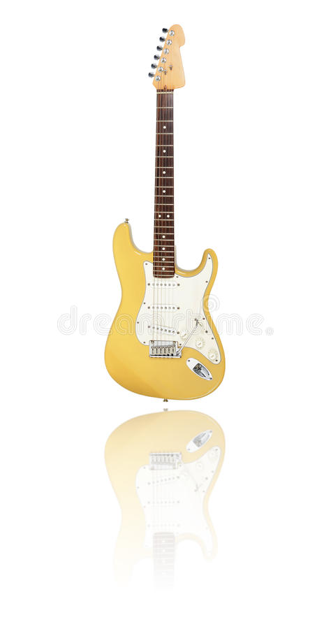 Блондинка butterscotch электрической гитары иллюстрация вектора