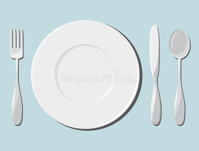 Блюда и столовый прибор бесплатная иллюстрация