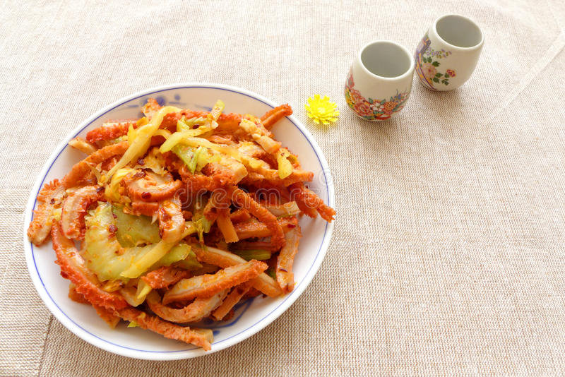 Блюдо китайского appetiser кухни холодное стоковое изображение rf