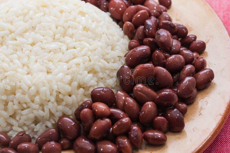 Блюдо риса с красными фасолями стоковое изображение