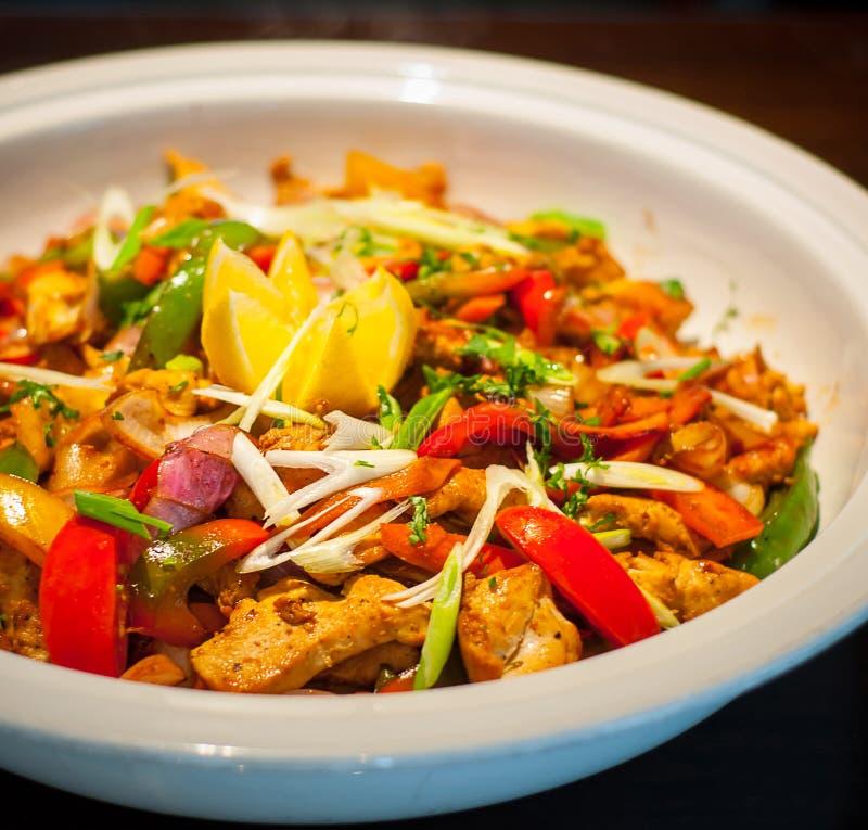 Блюдо цыпленка Chili стоковое фото rf