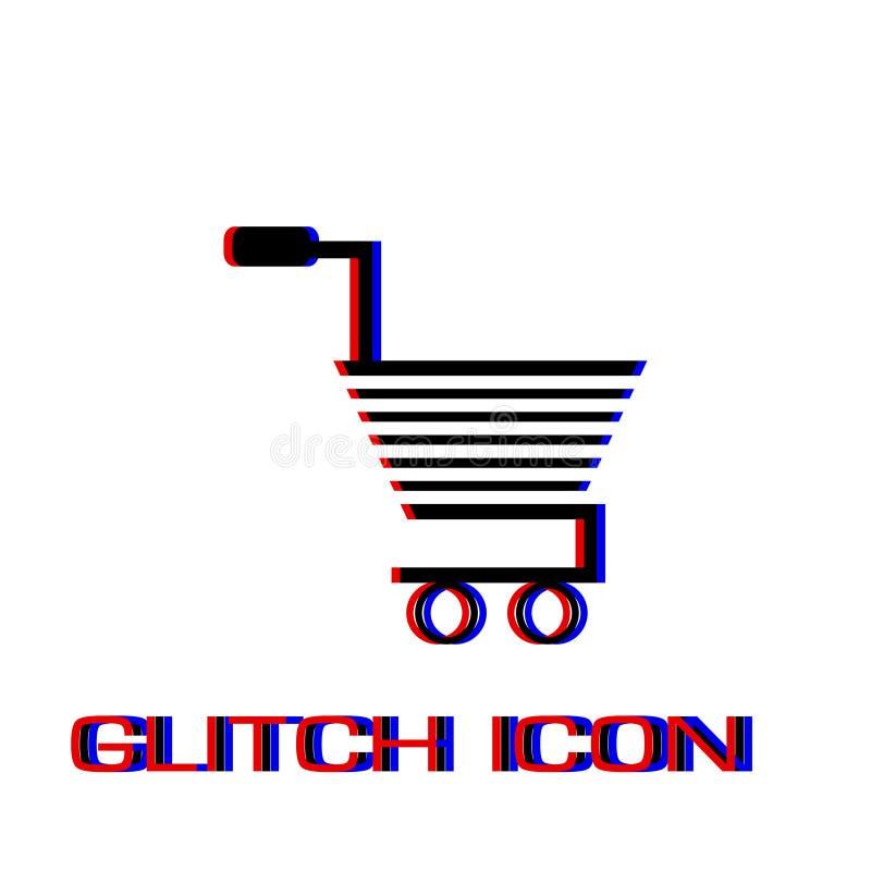 Вагонетка для значка продуктов плоско бесплатная иллюстрация