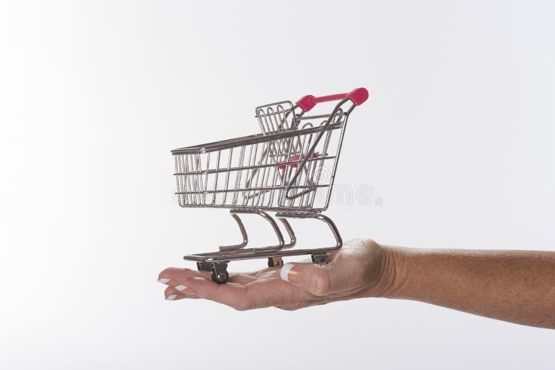 Вагонетка супермаркета стоковые изображения rf