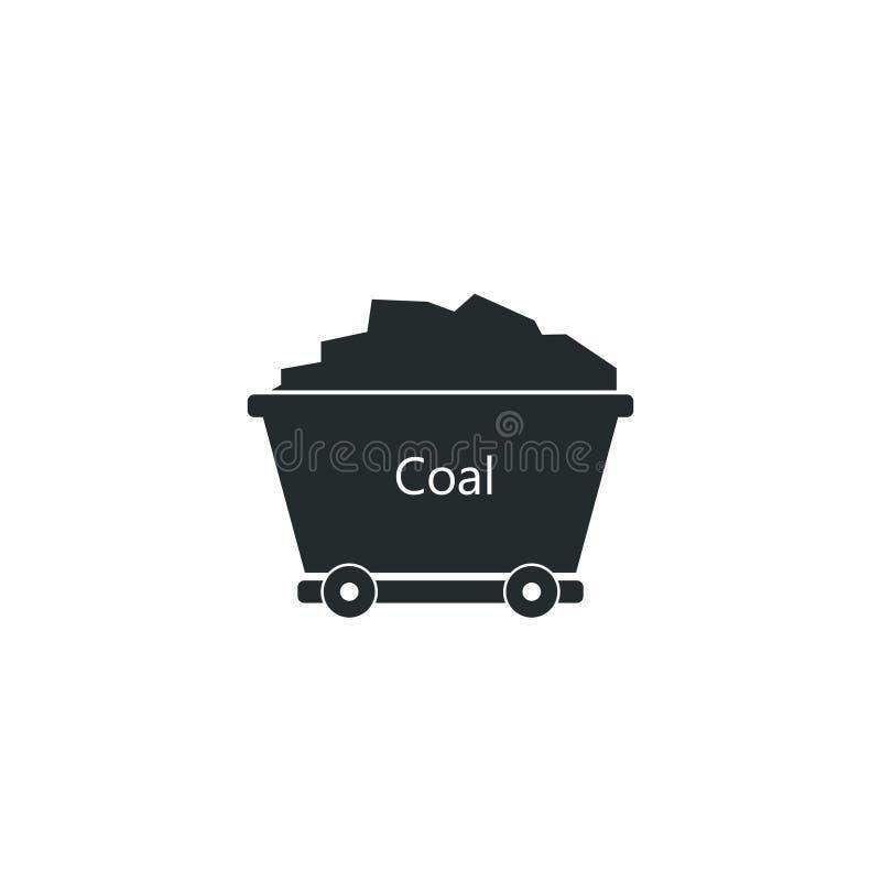 Вагонетка угольной шахты иллюстрация вектора