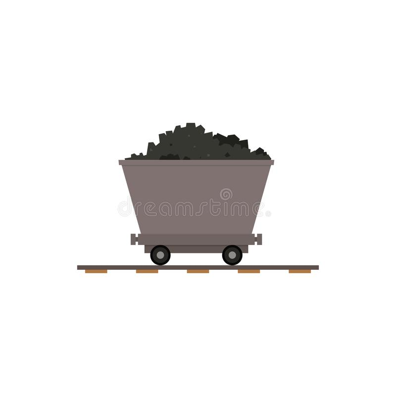 Вагонетка угольной шахты бесплатная иллюстрация