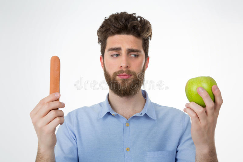 Важность выбирать здоровое питание стоковые фотографии rf