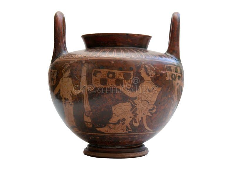 ваза изолированная древнегреческием стоковое изображение rf