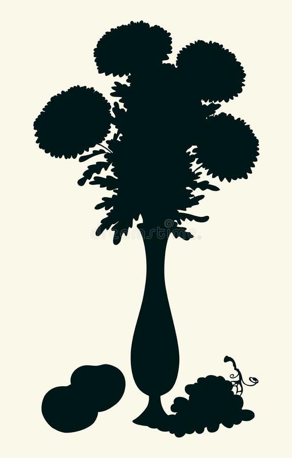 ваза хризантем букета высокая бесплатная иллюстрация
