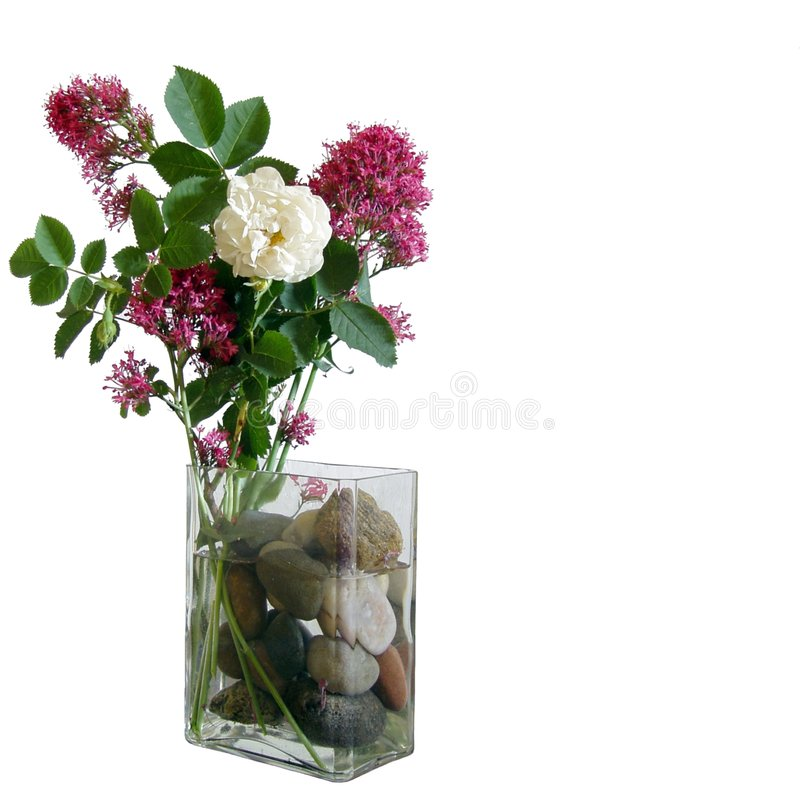 ваза цветка украшения стоковое изображение rf