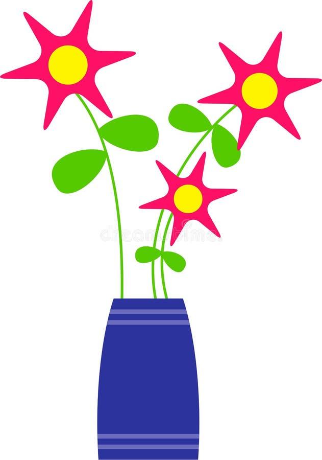 ваза цветков иллюстрация вектора