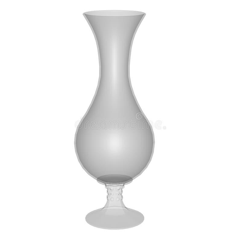 Ваза, цветочный горшок - 3D представляют иллюстрация вектора