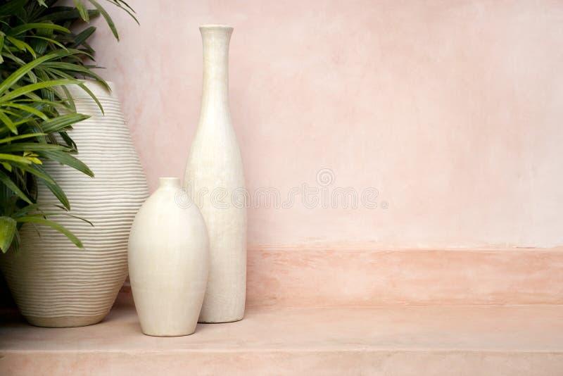 вазы предпосылки розовые стоковые изображения rf
