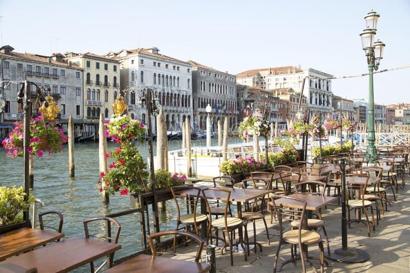 Вакантный ресторан в Венеции стоковое фото