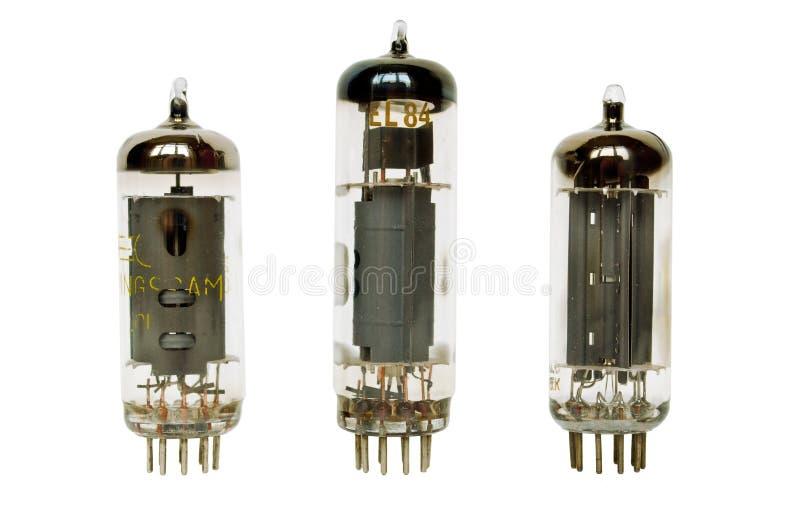 вакуум стеклянных ламп стоковые фото
