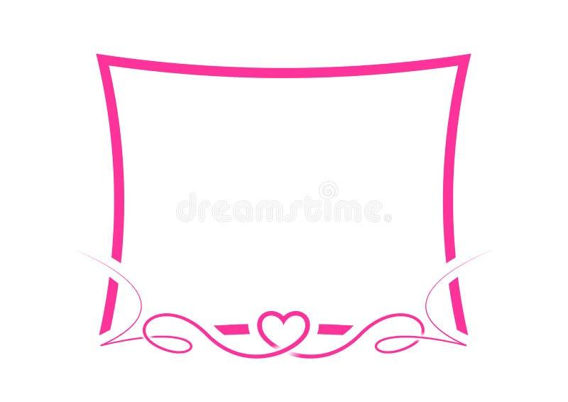 Валентайн граници розовое стоковые изображения rf