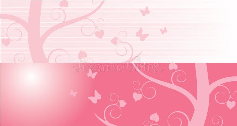 Валентайн знамен розовое иллюстрация штока