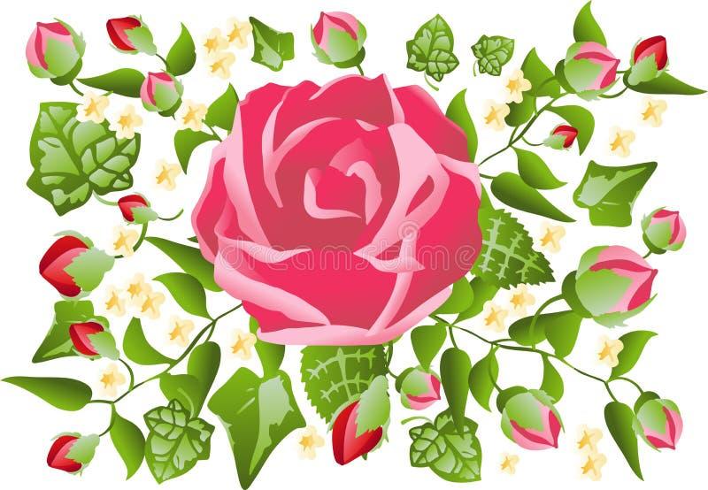 Валентайн картины розовое иллюстрация штока