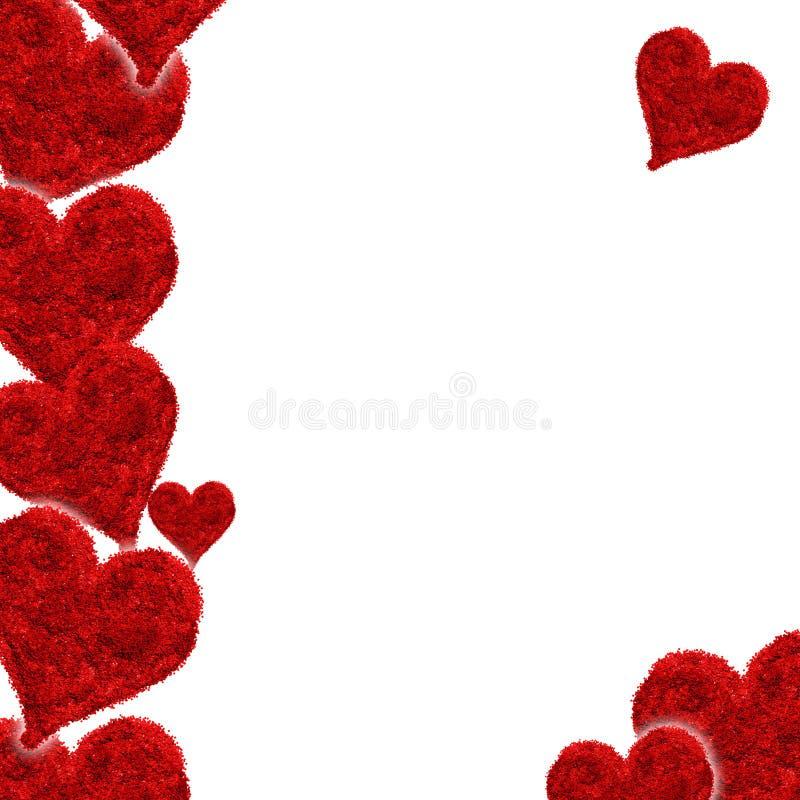 Валентайн красного цвета влюбленности сердца карточки бесплатная иллюстрация