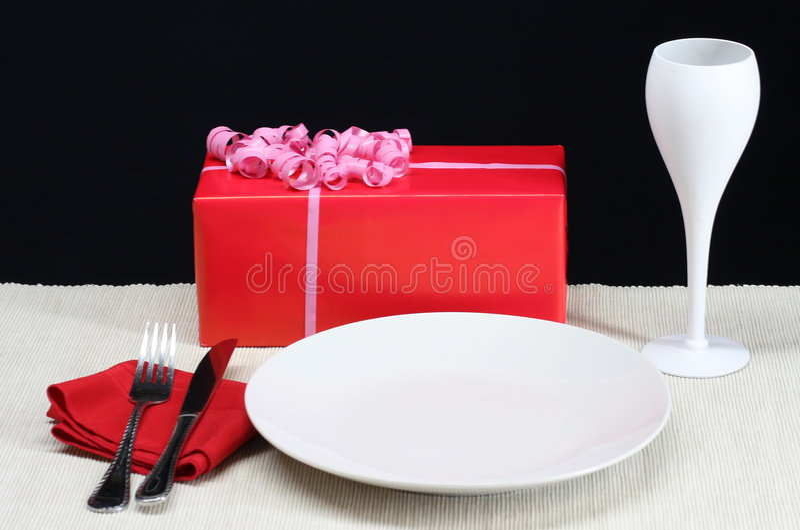 Валентайн обеда s дня стоковое изображение rf