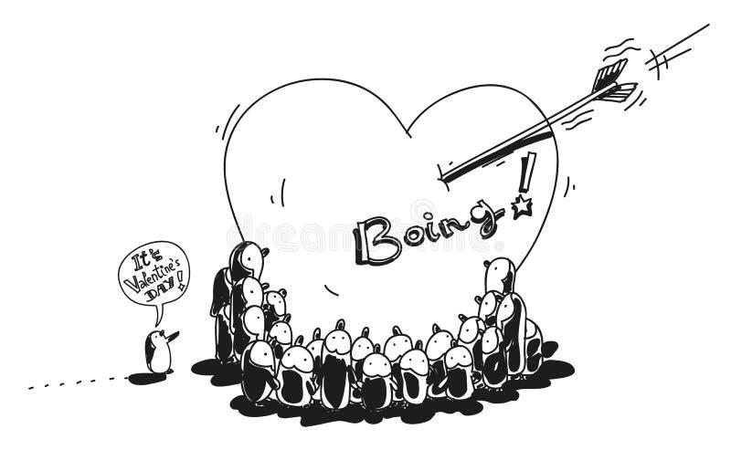 Валентайн пингвинов Стоковое Изображение RF