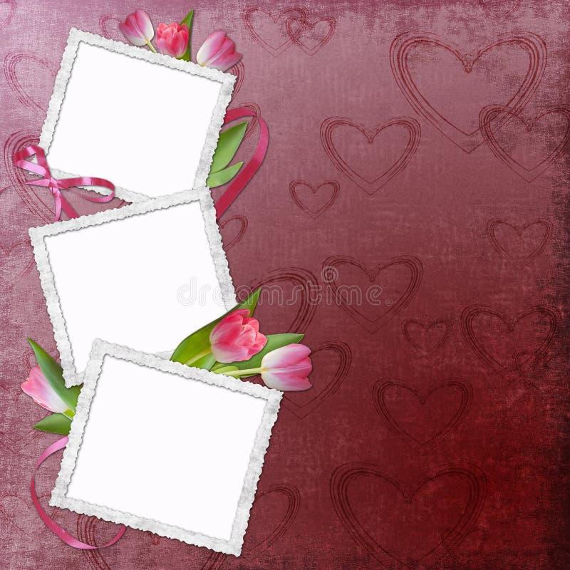 Валентайн рамки симпатичное s дня иллюстрация вектора