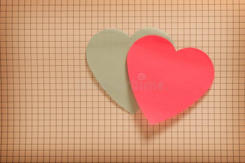 Валентайн сердец бумажное s стоковые фото