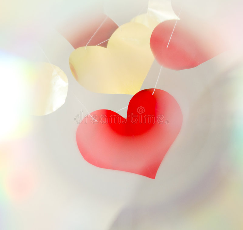 Валентайн сердец сетчатое стоковое фото
