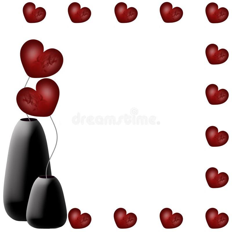 Валентайн сердец s рамки предпосылки иллюстрация штока