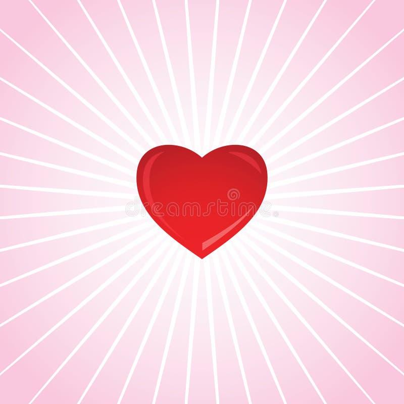 Валентайн сердца s светя иллюстрация вектора