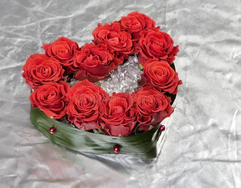 Валентайн украшения розовое s дня букета серебряное стоковое фото rf