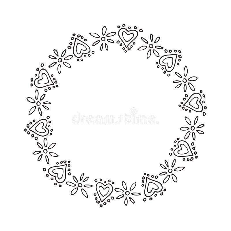 Валентинки border-20 иллюстрация штока