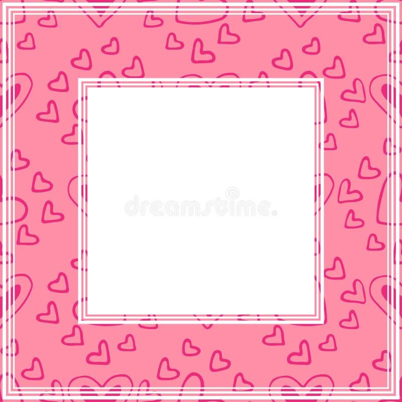Валентинки border-12 иллюстрация штока