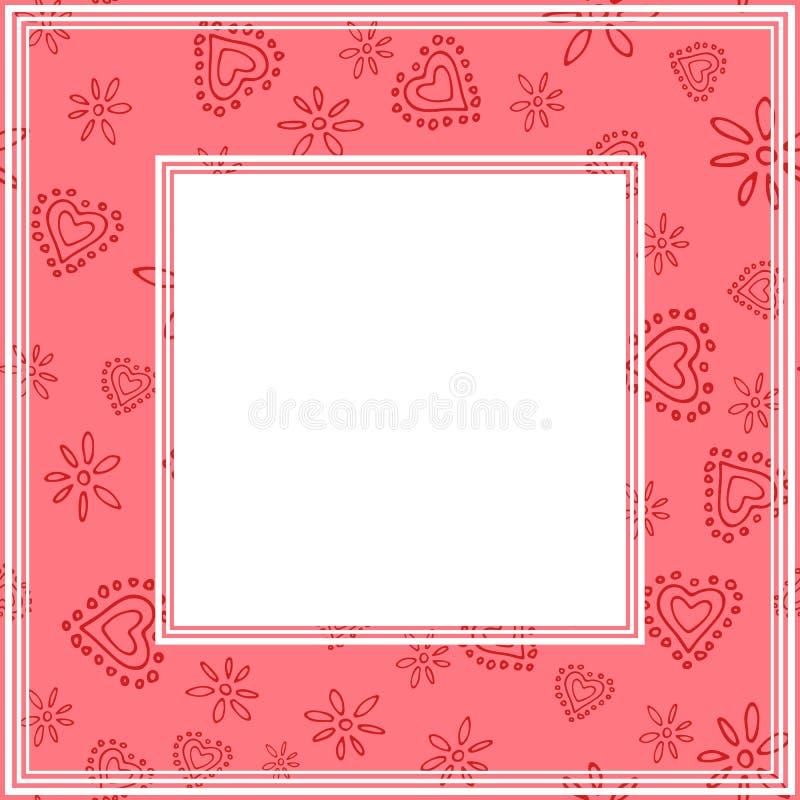 Валентинки border-11 иллюстрация вектора