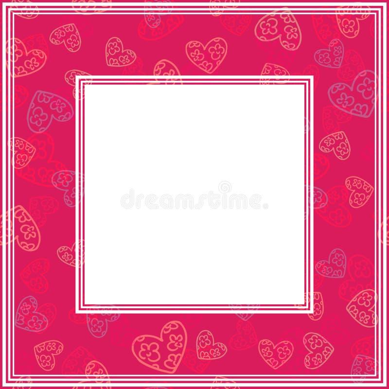 Валентинки border-18 иллюстрация вектора