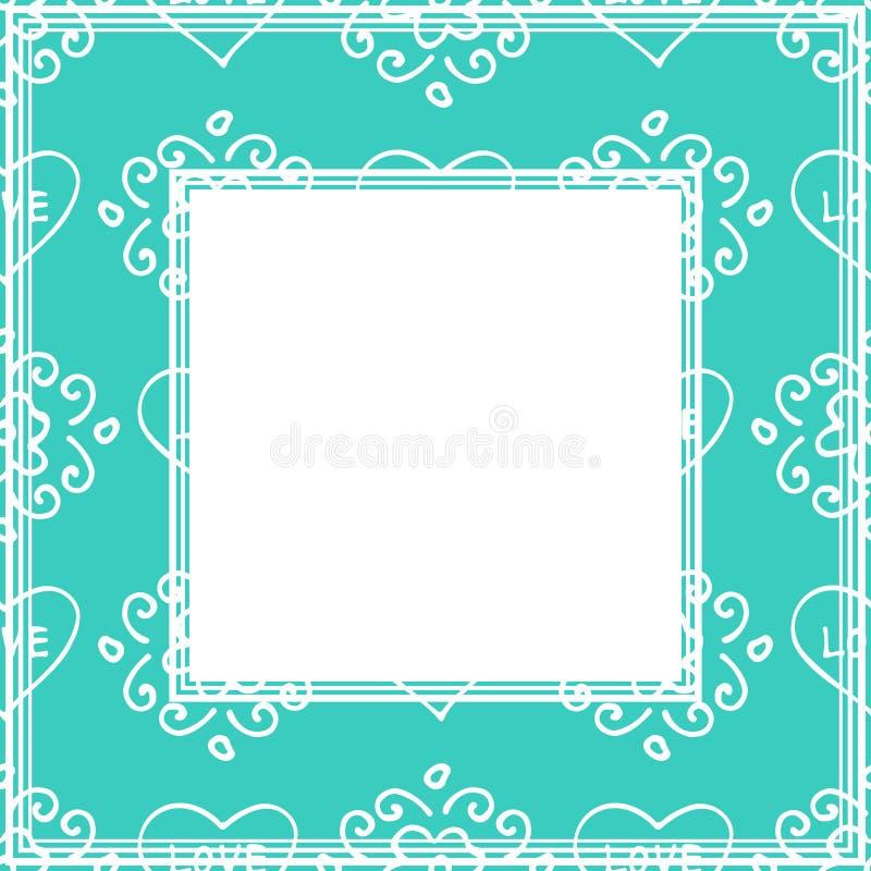 Валентинки border-16 иллюстрация вектора
