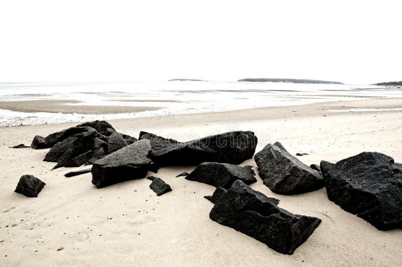 валуны пляжа стоковые изображения rf