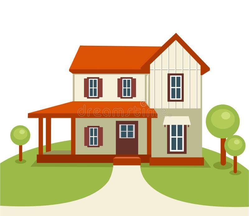 валы дома травы самомоднейшие бесплатная иллюстрация