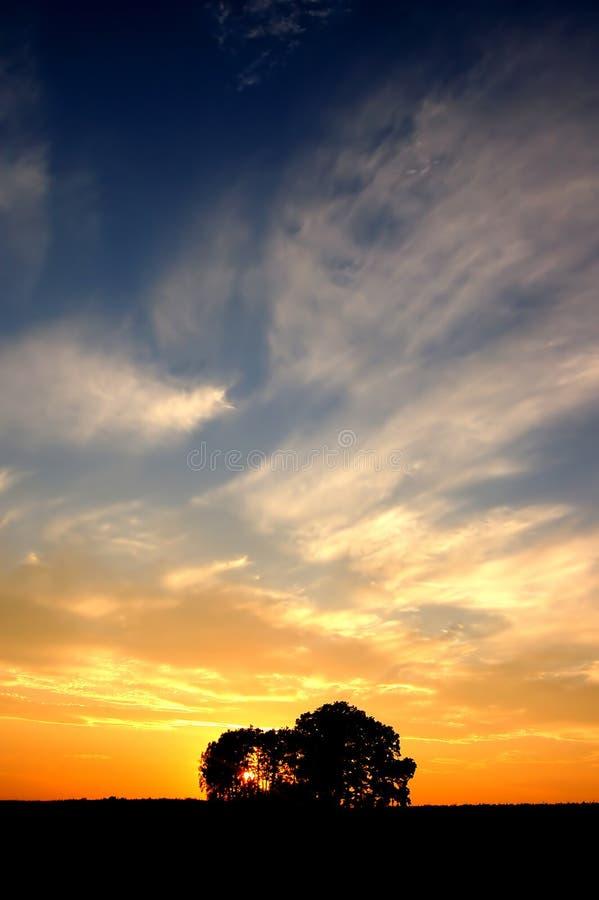 валы захода солнца стоковая фотография
